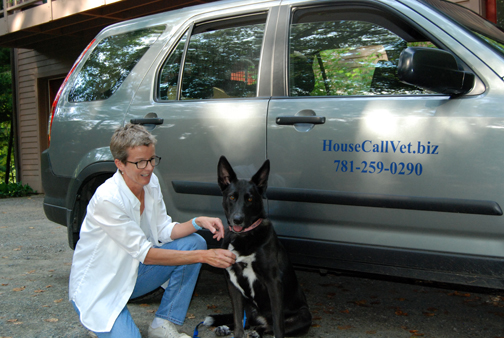 Dr. Betsy Johnson with her dog Lucy. Photo / Alice Waugh