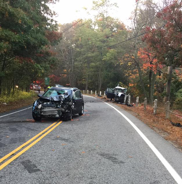 The October 18 accident scene (Photo: Lincoln Police Facebook page)